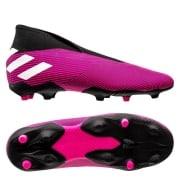 adidas Nemeziz 19.3 FG/AG Laceless Hard Wired - Pink/Hvid/So