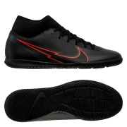 Nike Mercurial Superfly 7 Club IC Black X Chile Red - Sort/Rød/Grå