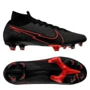 Nike Mercurial Superfly 7 Elite FG Black X Chile Red - Sort/Grå/Rød